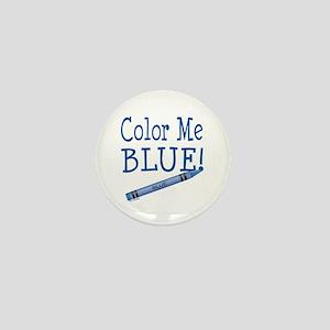 Color Me Blue! Mini Button