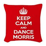 Morris Dancing Woven Throw Pillow