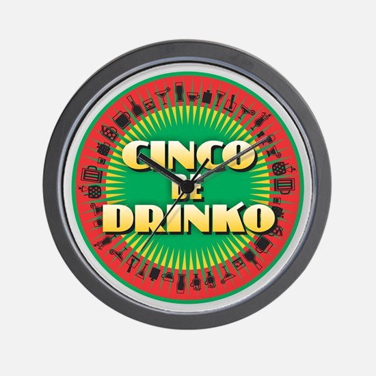 Cinco de Drinko Wall Clock
