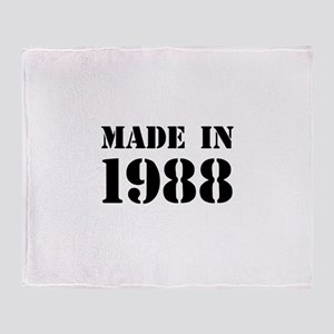 Made in 1988 Throw Blanket
