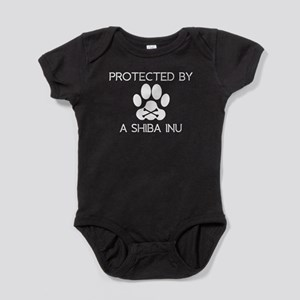 Protected By A Shiba Inu Baby Bodysuit