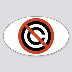 No Copyright Oval Sticker