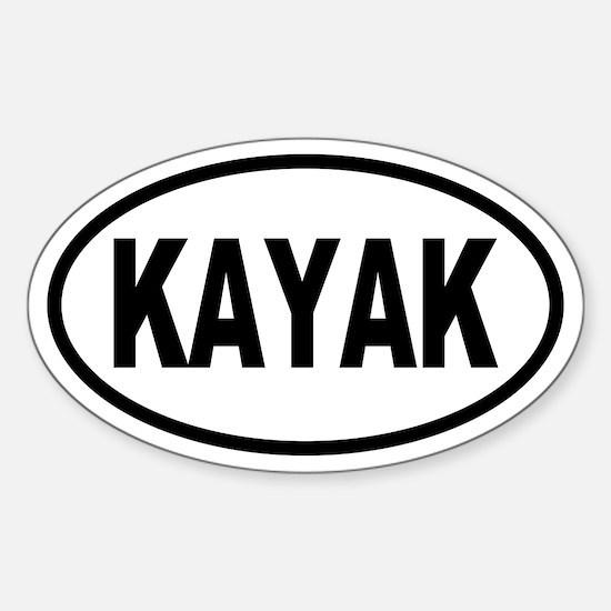 Basic Kayak Oval Decal