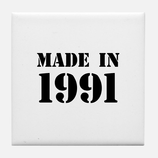 Made in 1991 Tile Coaster