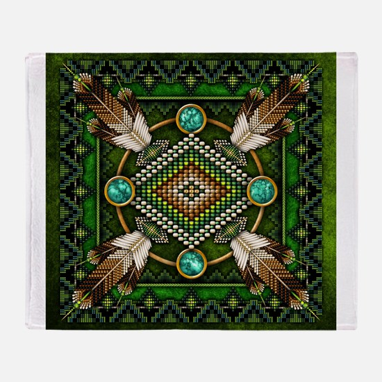 Native American Style Tapestry 2 Throw Blanket
