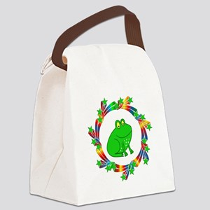 Frog Stars Canvas Lunch Bag