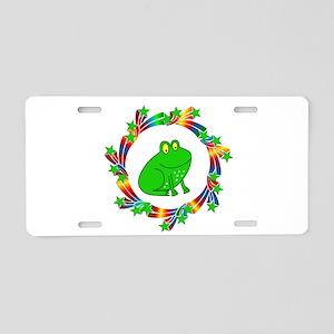 Frog Stars Aluminum License Plate