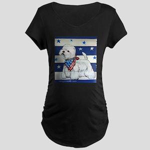 America Westie Maternity T-Shirt