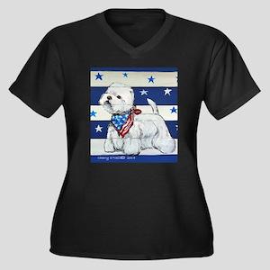 America Westie Plus Size T-Shirt