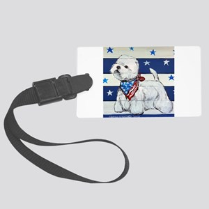 America Westie Luggage Tag