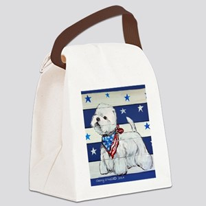 America Westie Canvas Lunch Bag