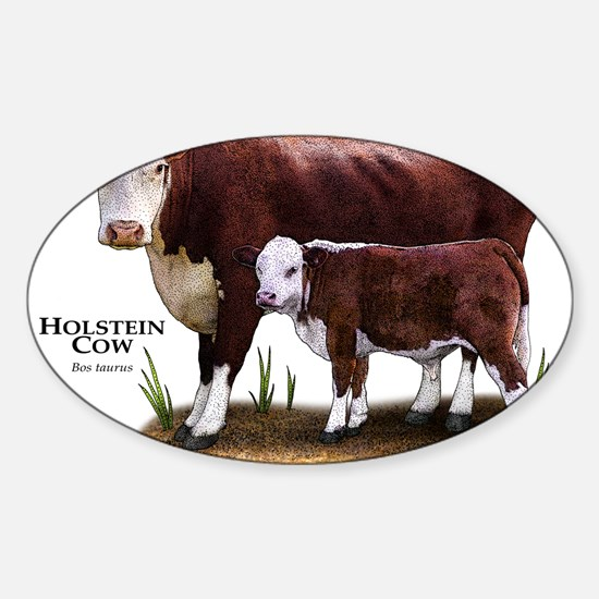 Cute Farm animal Sticker (Oval)