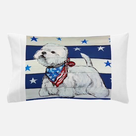 America Westie Pillow Case