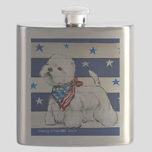 America Westie Flask