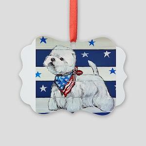 America Westie Ornament