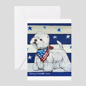America Westie Greeting Cards
