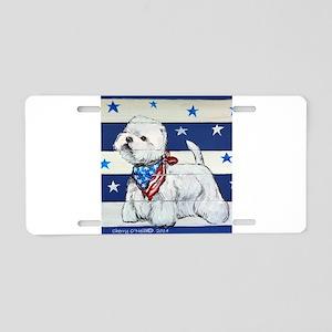 America Westie Aluminum License Plate
