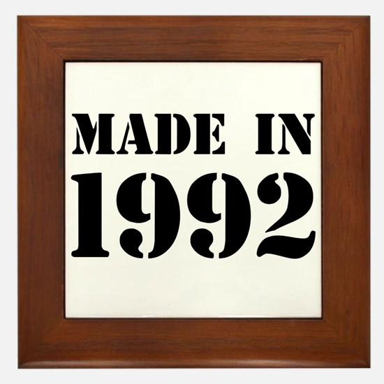 Made in 1992 Framed Tile