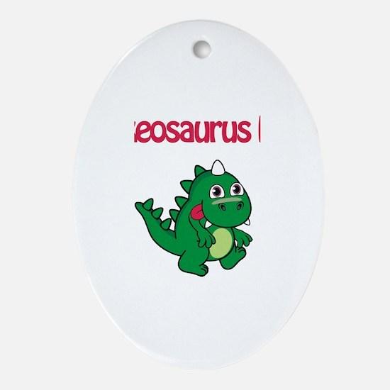 Lukeosaurus Rex Oval Ornament