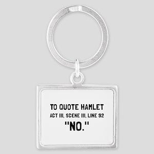 Hamlet Quote Keychains