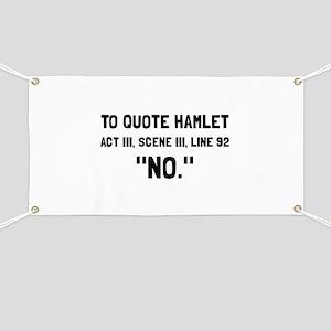 Hamlet Quote Banner