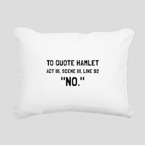 Hamlet Quote Rectangular Canvas Pillow