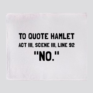 Hamlet Quote Throw Blanket