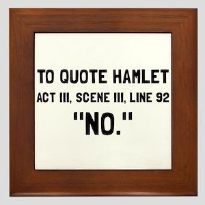 Hamlet Quote Framed Tile