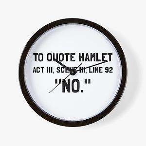 Hamlet Quote Wall Clock