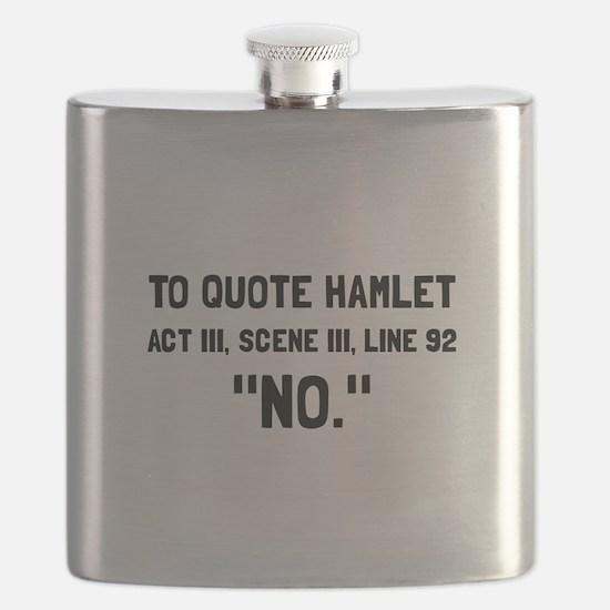 Hamlet Quote Flask