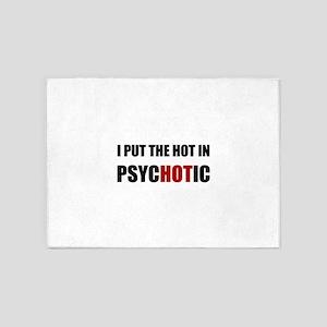 Hot Psychotic 5'x7'Area Rug