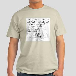 Valentine's Day Poem Ash Grey T-Shirt