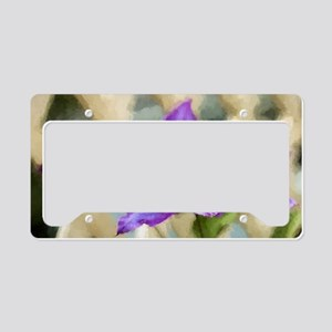 Painted Clematis License Plate Holder