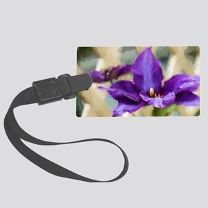 Painted Clematis Large Luggage Tag