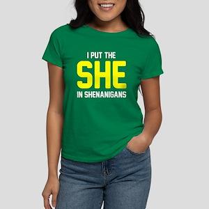 She in shenanigans Women's Dark T-Shirt
