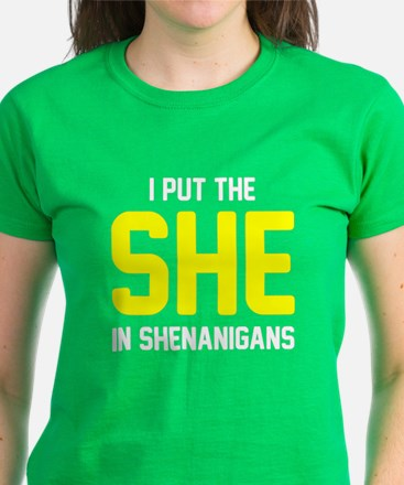 She in shenanigans Women's Dark T-Shirt