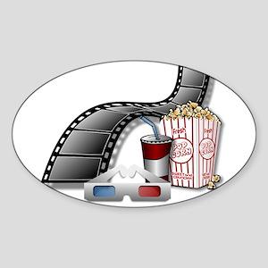 3D Movie Cinema Sticker