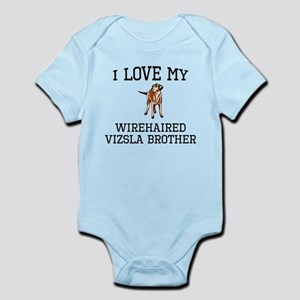 I Love My Wirehaired Vizsla Brother Body Suit