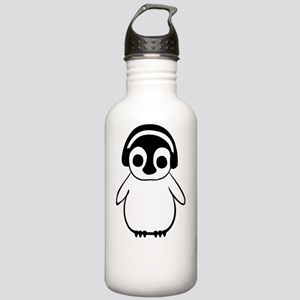 Penguin Enjoys Music Stainless Water Bottle 1.0L