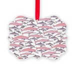 Pink Dolphin Pattern Ornament