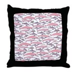Pink Dolphin Pattern Throw Pillow