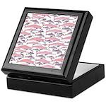 Pink Dolphin Pattern Keepsake Box