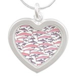Pink Dolphin Pattern Necklaces
