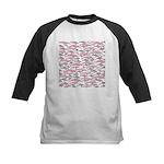 Pink Dolphin Pattern Baseball Jersey