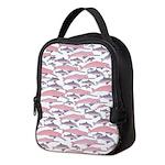 Pink Dolphin Pattern Neoprene Lunch Bag