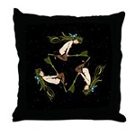 Witches Triangle Throw Pillow
