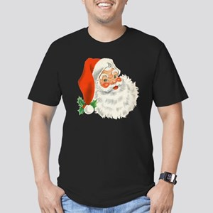 Vintage Santa Men's Fitted T-Shirt (dark)