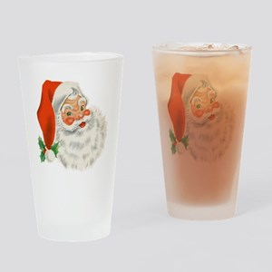 Vintage Santa Drinking Glass