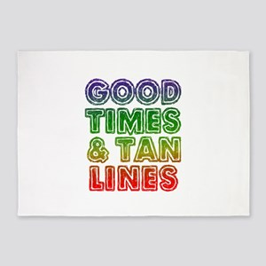 Good Times Tan Lines 5'x7'Area Rug