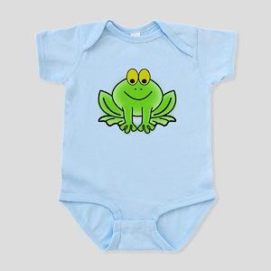 Smiling Cartoon Frog Body Suit